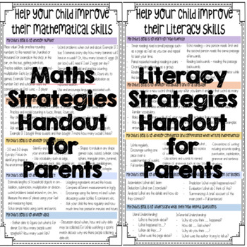 Literacy and Mathematics Parent Handout for 3rd and 4th Class