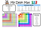 Literacy and Numeracy Desk Mat
