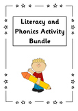 Literacy and Phonics activity bundle - Early Level/KS1; P1