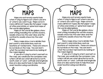 Maps: Literacy and Social Studies