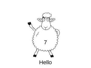 Literacy and creative writing Sheep Number 7 ppt