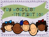 Literacy and fluency flashcards: Fry word list -the first hundred. Sight Words.