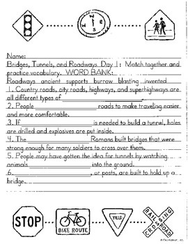 Literacy by Design Leveled Reader Pack-No Prep!  Bridges, Tunnels and Roadways-M