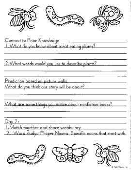 Literacy by Design Leveled Reader Pack-No Prep! Carnivorous Plants- O