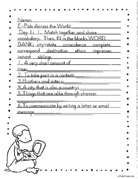 Literacy by Design Leveled Reader Pack-No Prep! E-Pals Across the World- O