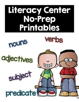 Literacy center NO PREP Printables