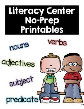 Literacy center NO PREP Printables