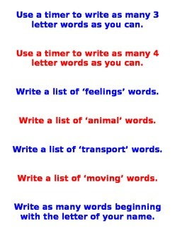 Literacy fast finishers ideas
