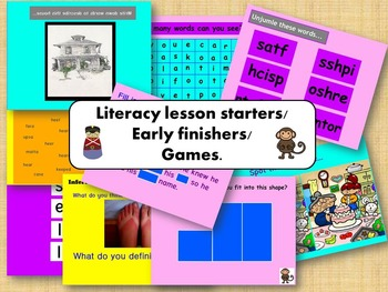 Literacy games / lesson starters