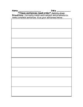 Literacy pack: conjunctions, prepositions, prep. phrases, sub. and pred. w/CCS