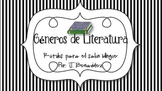 Literacy vocabulary posters - in spanish / Carteles de lit