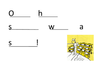 Literacy word activity - lesson plan included