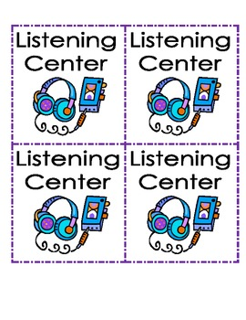 Literacy/Reading Center Labels
