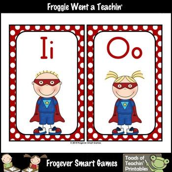 Literacy Resource--Super Hero Kids on Call Word Wall Headers