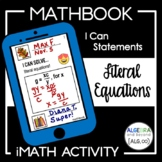 Literal Equations Activity | Mathbook