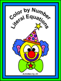 Literal Equations Color by Number