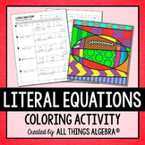 Literal Equations Coloring Activity