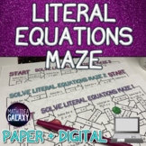 Literal Equations Digital Activity