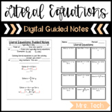Literal Equations Guided Notes - Digital