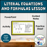 Literal Equations Lesson