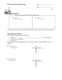 Literal Equations Notes / Learning Ladder