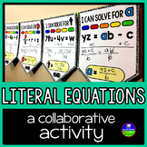 Literal Equations Math Pennant Activity