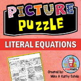 Literal Equations Picture Puzzle