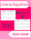 Literal Equations Row Game