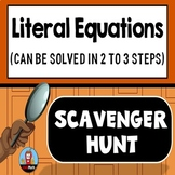 Literal Equations Scavenger Hunt {Can be Solved in 2 to 3 Steps}