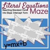 Literal Equations (Slope Intercept Form) Maze