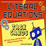 Literal Equations Task Cards