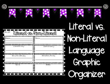 Literal Versus Non-Literal Language Graphic Organizer