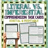 Literal Vs. Inferential Comprehension Task Cards