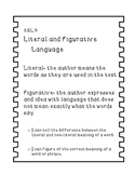 Literal and Figurative Language Task Cards