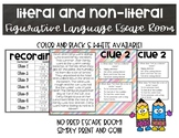 Literal and Non-Literal Figurative Language Escape Room