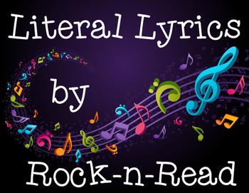 Literal Lyrics Figurative Language Activity Using Popular Songs