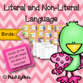 Literal and Non-literal Meaning Task Cards (Birds)