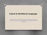 Literal and NonLiteral Language