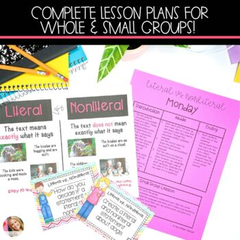 Literal and Nonliteral Language Lesson Plans with Activities