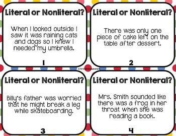 Literal and Nonliteral Lanuage RL.3.4