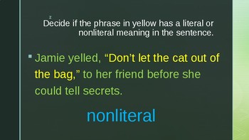 Literal or Nonliteral Meaning