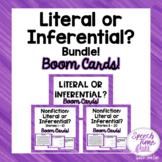 Literal vs. Inferential Boom Cards™️ Bundle