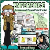 Inference Lesson Plan, PowerPoint, Worksheets, and MORE! (51 pages-EDITABLE!)