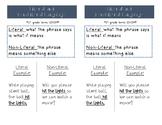 Literal vs Non-Literal Language Interactive Notebook