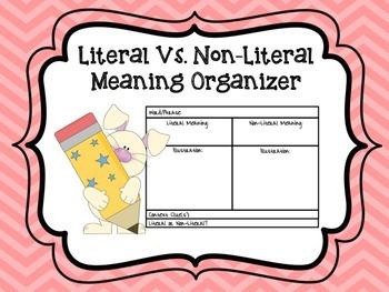 Literal vs. Non-Literal Organizer