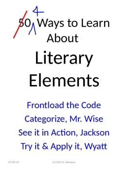 Literary Terms, Devices, Techniques, and differences therein