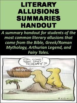Literary Allusions Summaries Handout