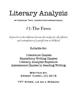 Literary Analysis #1: The Fawn