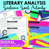 Literary Analysis Activity Sentences Sort DIGITAL and PRIN