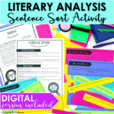 Literary Analysis Activity Sentences Sort DIGITAL and PRIN